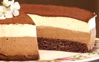 Торт «Шоколадный дуэт».