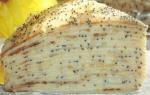 Блинный торт Маковка с заварным кремом