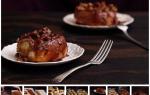 «Липкие булочки с корицей и грецкими орехами»