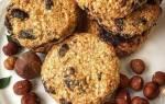 Низкокалорийное овсяное печенье с вишней и цедрой