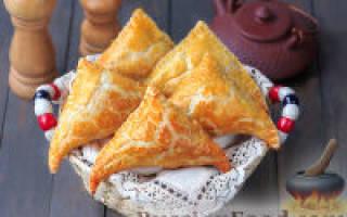 «Слоеные пирожки с курицей и картофелем»