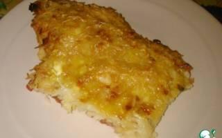 Курица запеченная под тертым картофелем»