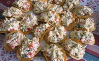Сырная закуска на чипсах — быстро & оригинально