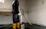 Как избавиться от воды в подвале