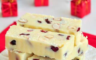 «Шоколадные батончики со сгущёнкой, орехами и клюквой»
