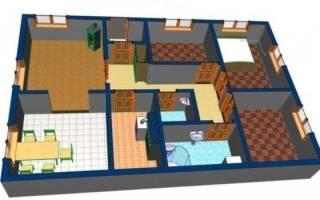 Полноценный дом 4х4, в котором есть все: гостиная, кухня, спальня, кладовая, санузел (секрет дома и стоимость)