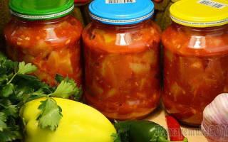 Салат на зиму из кабачков и помидоров смело готовьте двойную порцию!