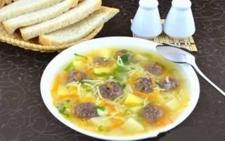«Сытный суп с мясными фрикадельками»