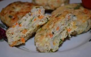 «Сочные куриные котлеты с кабачком и рисом»