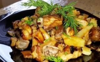 Грибочки с картошечкой — это потрясающе! Так тепло, уютно и по-домашнему!