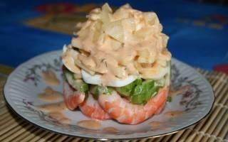 Восхитительный салатик с огурцом и креветками