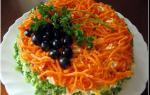 «Салат с курицей, сыром, грибами и помидорами»