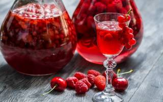 4 стакана сахара, 4 стакана воды, 4 стакана ягод, 4 стакана водки!