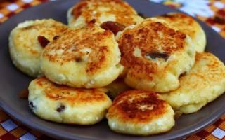 «Вкусные сырники из творога с изюмом»