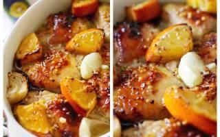 «Запеченный цыпленок в маринаде с апельсинами»