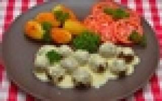 «Мясные шарики из говяжьего фарша под сливочным соусом»