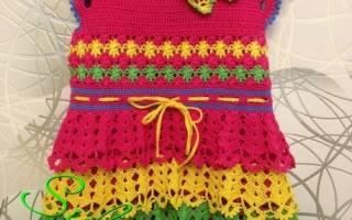 Радужное платье
