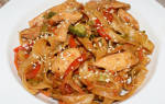 Азиатская (тайская) лапша с курицей терияки