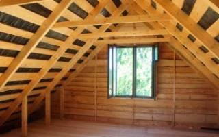 Двухскатная крыша для гаража