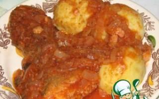 Треска запеченная в томатном соусе!