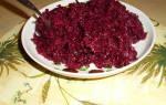 Салат из свеклы, изумительная закуска зимой