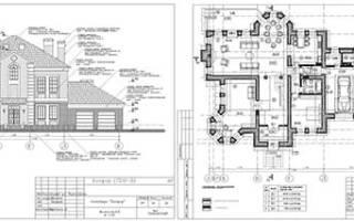 Эскизный проект двухэтажного дома.