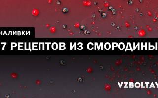 СМОРОДИНОВАЯ НАСТОЙКА (два рецепта из черной и красной смородины)