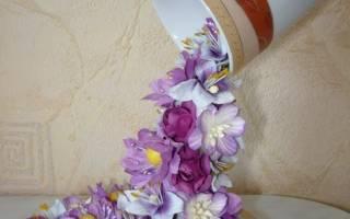 Чaшка — проливaшка «Цветoчный водопaд»