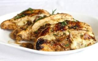 «Курица, фаршированная грибами и сыром»