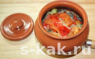Готовим в горшочках: мясо с картофелем и овощами