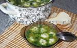 Суп с сырными клёцками.