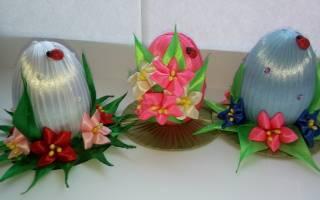 Авторские шелково-ленточные пасхальные яйца!
