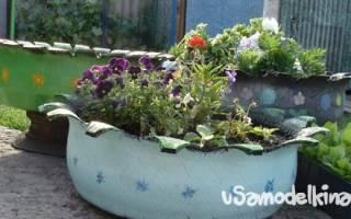 Декоративные поделки для сада из ненужных металлических колес