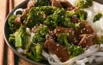Говядина с брокколи по-китайски.