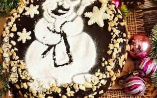 Торт «Снеговик».