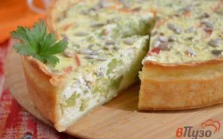 Пирог с творогом и брокколи, отдичный вариант ужина