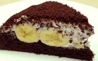 «Шоколадно-банановый торт»