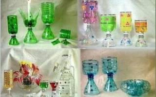 Такая красота сделана из пластиковых бутылок.