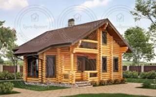 Проект дома из оцилиндрованного бревна.