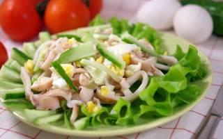 Салат с кальмарами «Просто и вкусно»