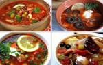 ТОР — 6 Рецептов отменных мясных солянок