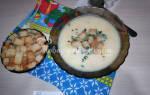 Куриный суп с сухариками