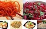 Подборка из 5 салатов по-корейски!