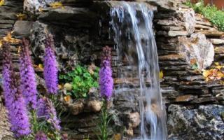 Как сделать прудик с водопадом